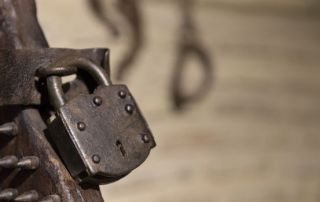 Candado de la silla de tortura usada por la Inquisición