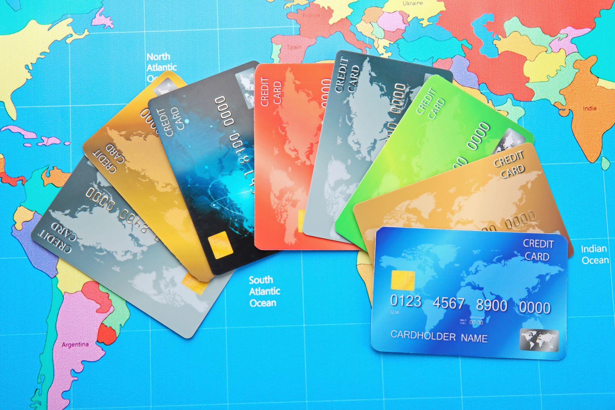 Credit cards on world map background mundo offshore credit cards on world map background gumiabroncs Image collections