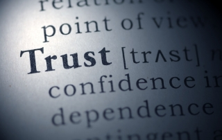 Dictionary definition of the word Trust.