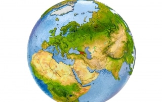 Georgia resaltado en el mapa de Europa