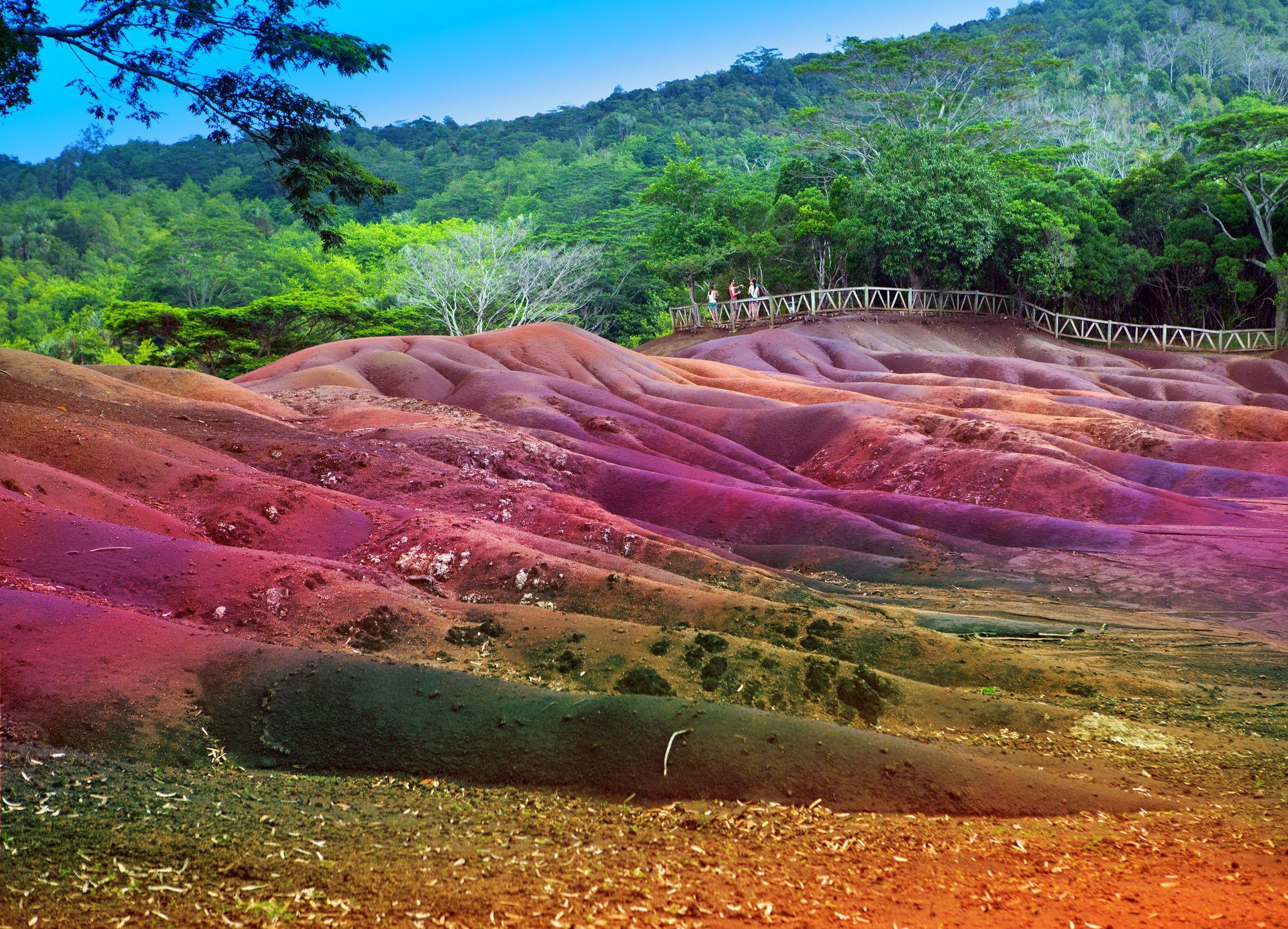 La tierra de los siete colores, uno de los principales atractivos turísticos de Mauricio.