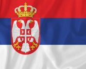 Serbia waving flag