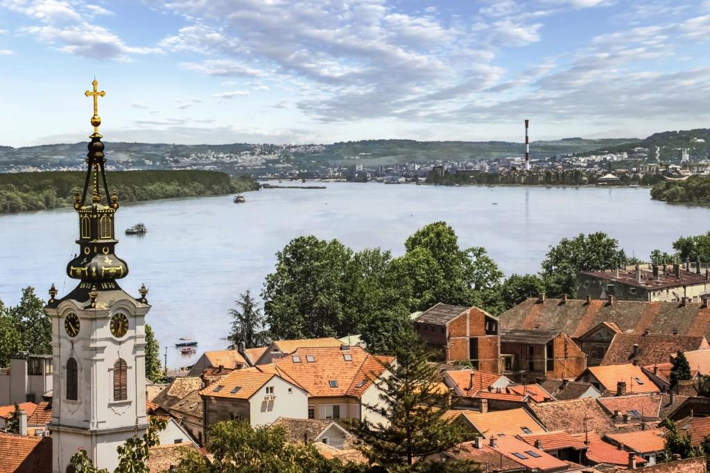 Vista panorámica de Gardos - Zemun, en la ciudad de Belgrado, República de Serbia