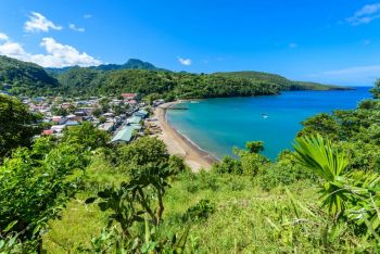 Anse la Raye - tropical beach on the Caribbean island of St. Lucia.