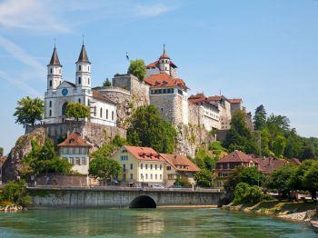 Castillo Aarburg, cerca de Zurich, Suiza